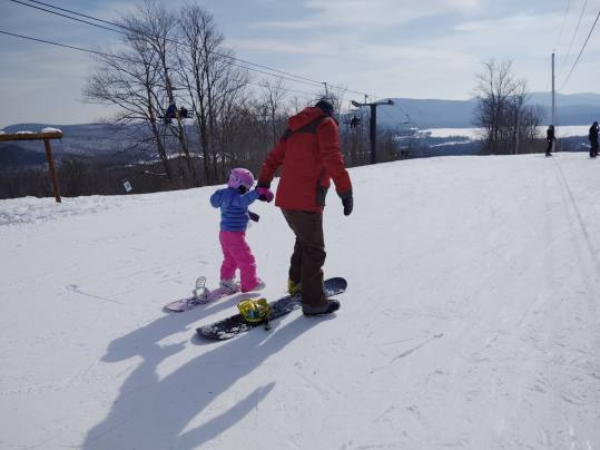 Daddy and Felicity on the mountain